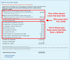 Which Airlines Have Fuel Surcharges On Award Tickets