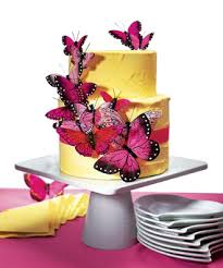 Hand Painted Romantic Pink Butterfly Cake Decoration Hansonelliscom