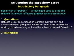 the expository essay 8 structuring the expository essay