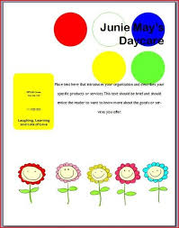 Free Printable Daycare Flyers Make A Free Daycare Flyer It Still Works