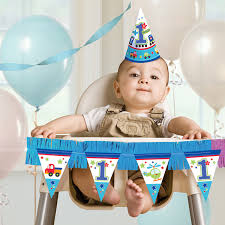 all aboard 1st birthday party high chair decorations