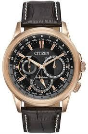 citizen bu2023 04e men s calendrier black and rose gold watch citizen eco drive mens calendrier black and rose gold watch bu2023 04e