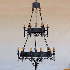 1050 18 spanish revival wrought iron chandelier