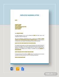 employee warning letter exles pdf
