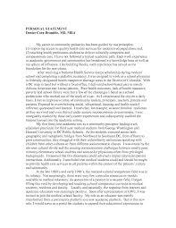 Nursing Personal Statement Examples Personal Essay For Graduate School Nursing