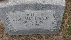 Sybil Mayo Wade (1900-1977) - Find A Grave Memorial