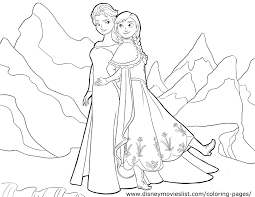 Small Picture Frozen Coloring Page Queen Elsa Princess Anna nebulosabarcom