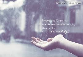 Dream Hope Quotes Best of Sometimes It Seems Like Hopes And Dreams Are Like Teardrops In The