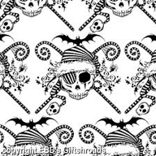 our extreme gothic pirate santa stripey candy canes bat spider black holly and skulls this has it all gothic pirate santa white giftwrap