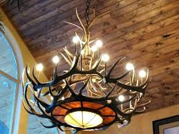 moose antler chandelier real chandeliers ceiling faux deer light white mo this handmade faux antler chandelier