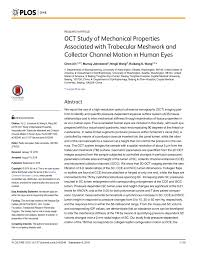 Pdf Oct Study Of Mechanical Properties Associated With