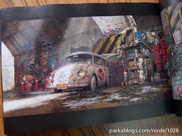tekkon kinkreet art book background sketches 04