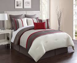 8 pieces aruba red taupe comforter sets king size for bedroom decoration ideas