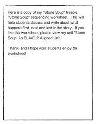 Welcome to esl printables, the website where english language teachers exchange. Quot Stone Soup Quot Sequencing Worksheet Freebie Stone Soup Sequencing Worksheets Journeys Reading