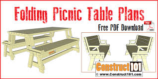 folding picnic table plans free pdf step by step easy to