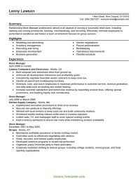 Regular Store Incharge Resume Model Best Store Manager Resume