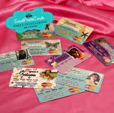 Credit Card Party Invitations Credit Card Quinceanera Invitations Sweet 16th Invitations Wedding