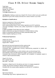 Cdl Resume Sample