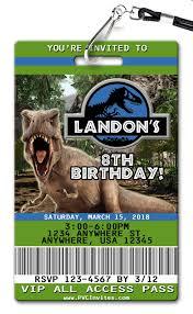Jurassic Park Invitations Jurassic World Birthday Invitation In 2019 Jurassic Park