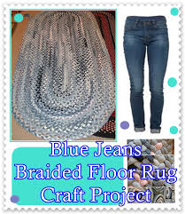 this blue jeans braided floor rug craft project show you that jeans that have been outgrown still can be re purposed into a very useful item for around the