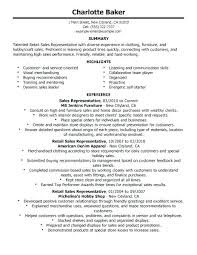 Sales Representative Resume Examples Sales Representative Resume Resume Examples For Retail Lovely 46