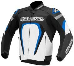 alpinestars motegi leather jacket clothing jackets motorcycle black white blue alpinestars tech 1