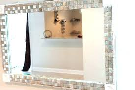 bathroom mirror frame tile. Unique Tile Exciting Bathroom Mirror Mosaic Frame  Placed In Shiny Glass Tile With Bathroom Mirror Frame Tile H