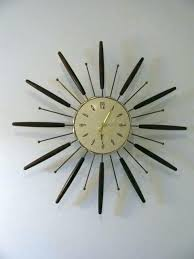 vintage sunburst clock wall starburst metamec best me images on