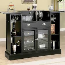 image of touch of modern wine rack black mini bar home wrought