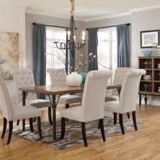 dining room table rectangular tripton by ashley at bellagio furniture houston texas