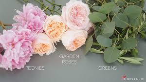 peonies and david austin garden roses bridal bouquet ings
