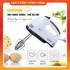 Máy đánh trứng kem bơ cầm tay, máy làm bánh 7 tốc độ tặng 4 que làm bánh, đánh  trứng chính hãng bảo hành 12 tháng giá cạnh tranh