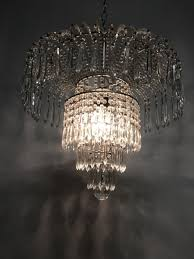 waterfall crystal chandelier inside well liked vintage italian crystal beaded waterfall chandelier for at pamono