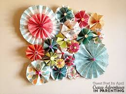 diy paper rosette wall decor