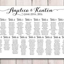 Printable Seating Chart For Wedding Reception Wedding Guest Template Online Charts Collection