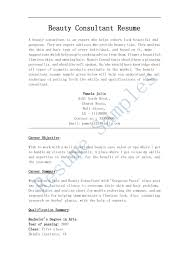 Beauty Consultant Resume Beauty Advisor Resume Cityesporaco 2