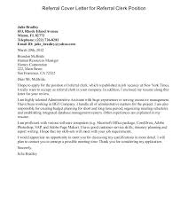 Cover Letter Referral From Friend Ideas Of Referral Cover Letter