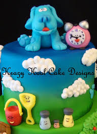 Egg Surprise Cake Design Blues Clues Cake Great Fondant Figures Cake Toppers