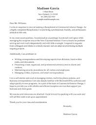 Cover Letter Examples For Receptionist