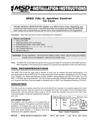 msd ignition wiring diagram 7al wiring diagrams msd 7330 7al 3 ignition control installation user manual 12 pages
