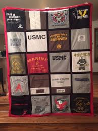 72 best T-Shirt Quilts images on Pinterest | Shirt quilts ... & United States Marine Corps - T-shirt memory quilt. Adamdwight.com
