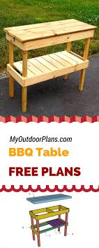 This step by step diy project is about bbq table plans.