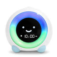 Toddler Clock Green Light Littlehippo Mella Ready To Rise Childrens Trainer Alarm Clock Night Light Sleep Sounds Machine