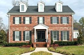 red brick house front door red brick house with black shutters red brick colonial house exterior red brick house front door dark