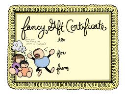 babysitting certificates babysitting gift certificate template child care gift