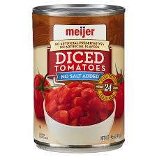 meijer no salt added diced tomatoes 14