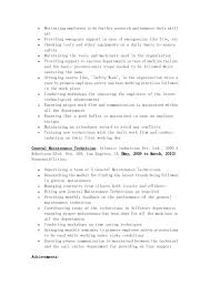 The Page 2 Of General Maintenance Technician Resume Sample