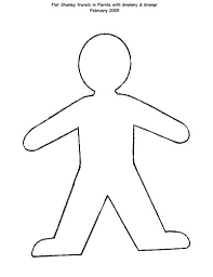 Flat Stanley Template Impressive Flat Stanley Outline Our Template For The Flat Flat Stanley Body