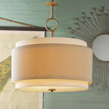 Extra Large Drum Shade Ceiling Light Double Drum Pendant Large In 2019 Drum Shade Chandelier