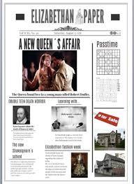 Victorian Era Newspaper Template Project Elizabethan And Victorian Newspaper Efl And Culture